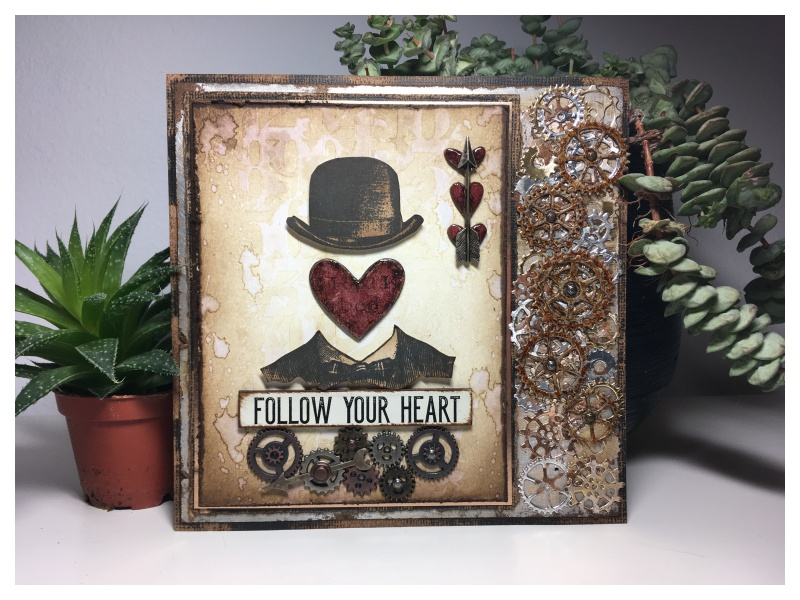 NEW Valentine Words Layering Stencil Stampers Anonymous Tim Holtz Collection