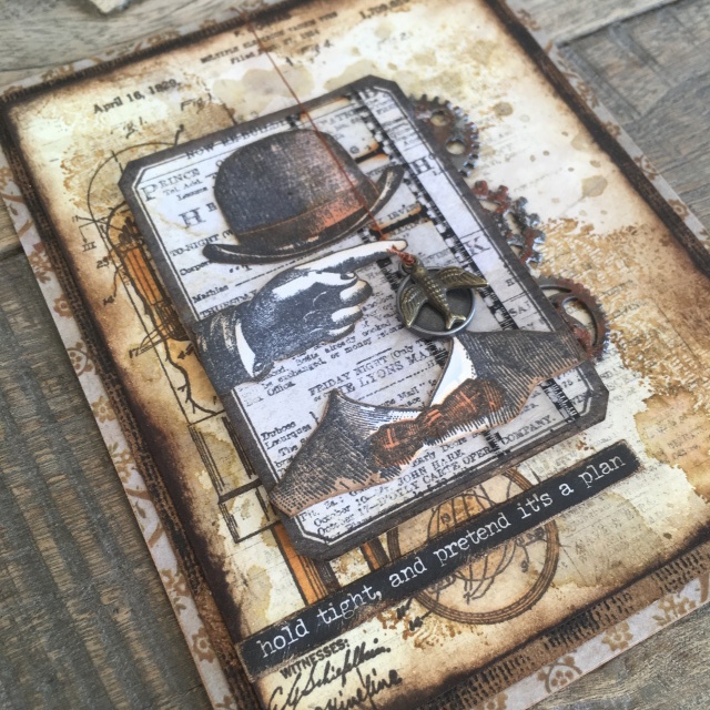 Stampers Anonymous Tim Holtz Cling Mounted Rubber Stamp Set Inventor 7 cms374